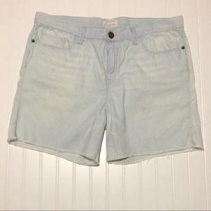 Current/Elliott Railroad Stripe BF Shorts 32